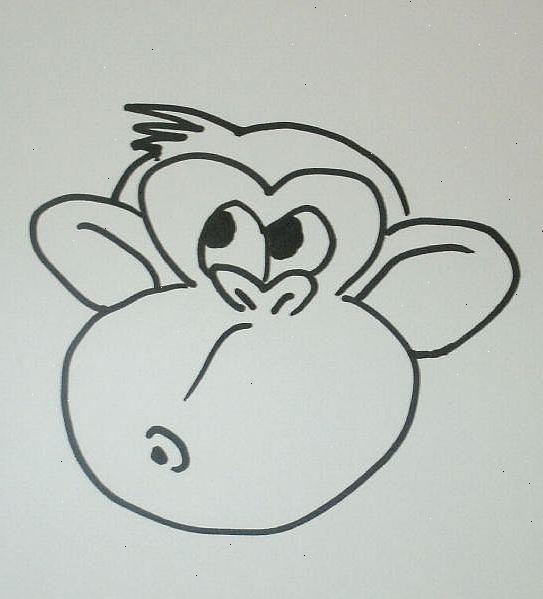 hvordan tegne en tegneserie ape ansikt wkino